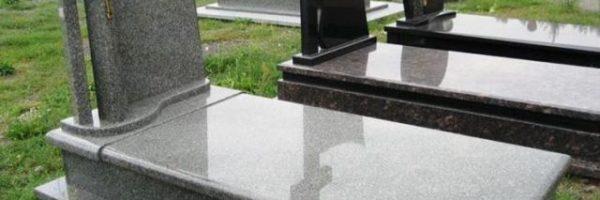 Одинарні пам'ятники із граніту сірого