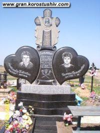 Подвійний пам'ятник з граніту ДМ-007