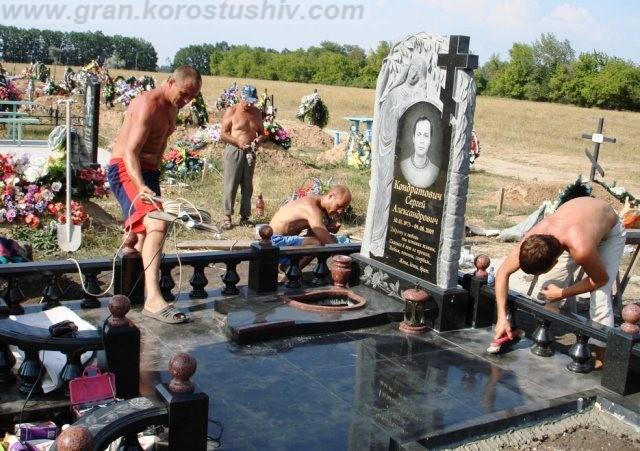 обустройство могилы под ключ