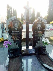 замовити гранітний комплекс на могилу Коростишів київ Україна фото ціна