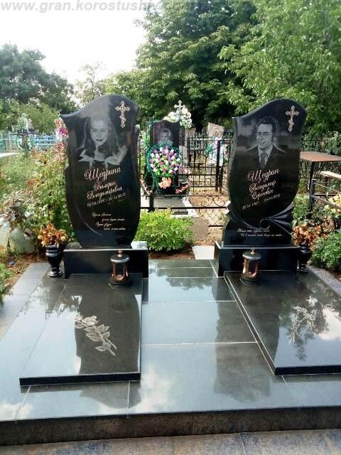 замовити меморіальний комплекс на кладовищі Коростишів київ Україна фото ціна