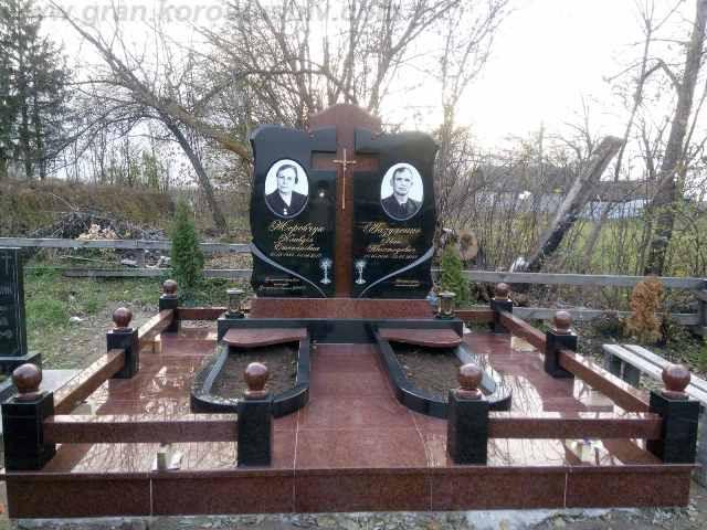 гранітні комплекси на могилу Коростишів київ Україна фото ціна